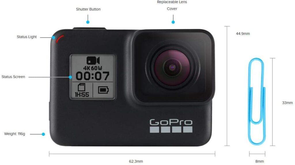 Accesorios coche GoPro Hero 7 Black